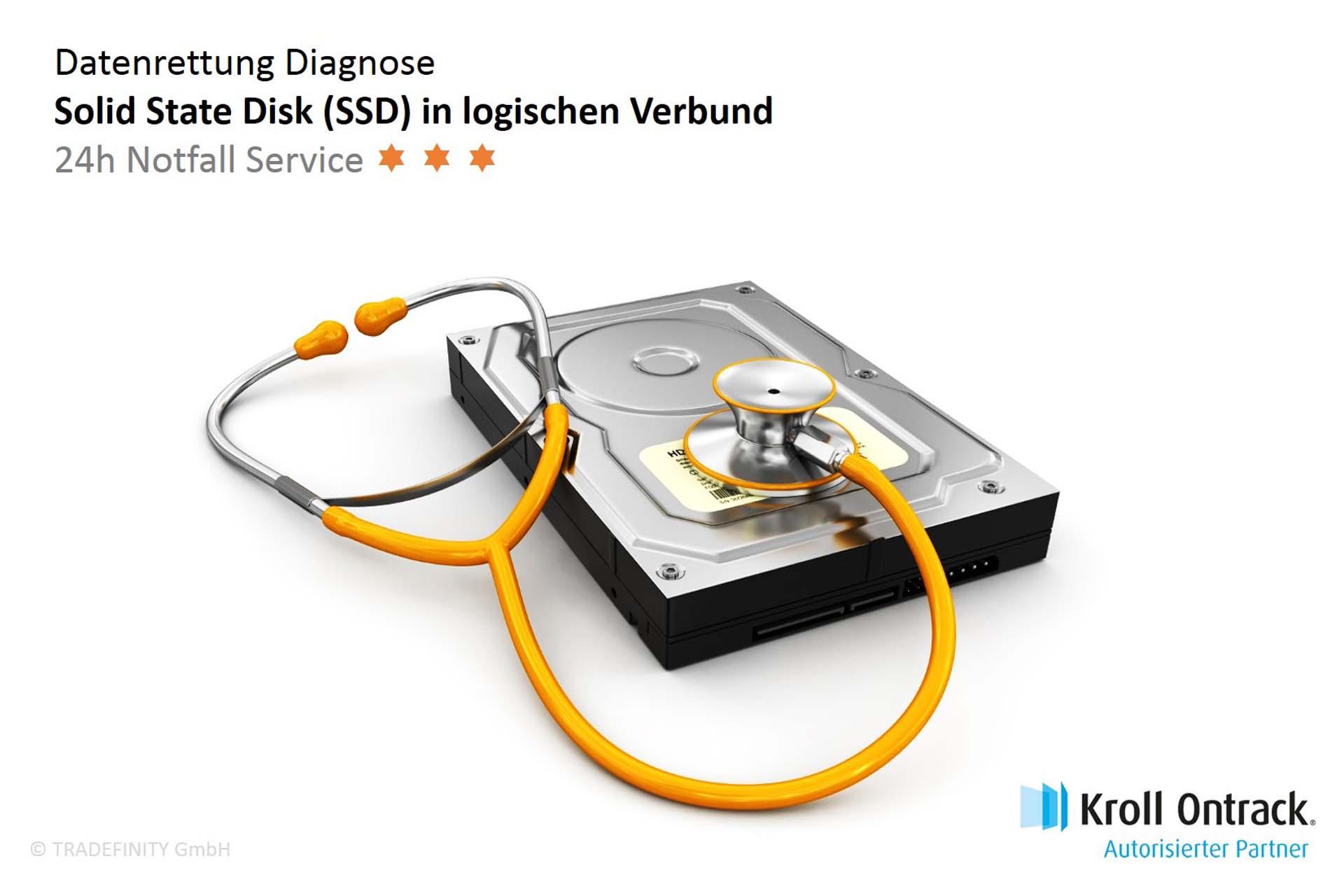 Datenrettung Diagnose (24h Notfall Service) von SSD (Verbund)
